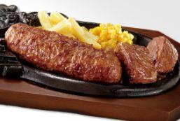 炭焼きジューシーがんこハンバーグと炭焼きやわらかカットステーキコンビランチ