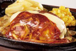 Wチーズ&デミグラスソースブロンコハンバーグランチ