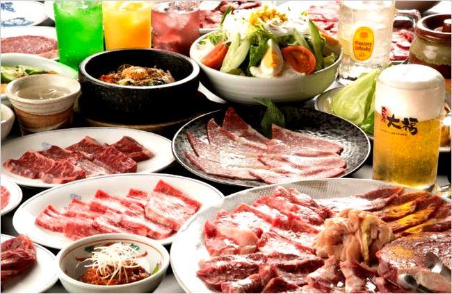 【カルビ屋大福】 ランチに食べ放題が人気!! メニューや時間について