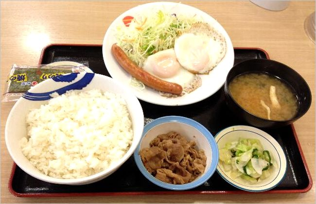 【松屋】 朝食メニューの値段や時間帯は?