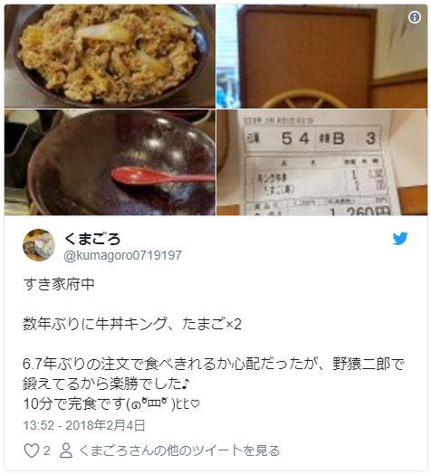 すき家 牛丼キング